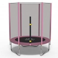 Батут с сеткой FitToSky Pink 140 см