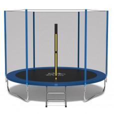 Батут FitToSky Blue 312 см с внешней сеткой и лестницей