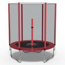 Батут с сеткой FitToSky Red 140 см