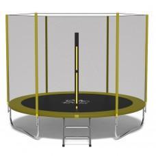 Батут FitToSky Yellow 312 см с внешней сеткой и лестницей
