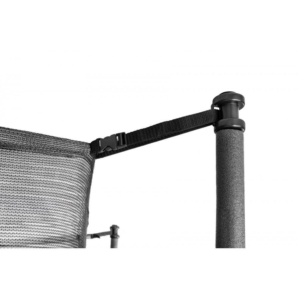 Батут Hop-Sport Black/Green 244 см с внутренней сеткой и лестницей