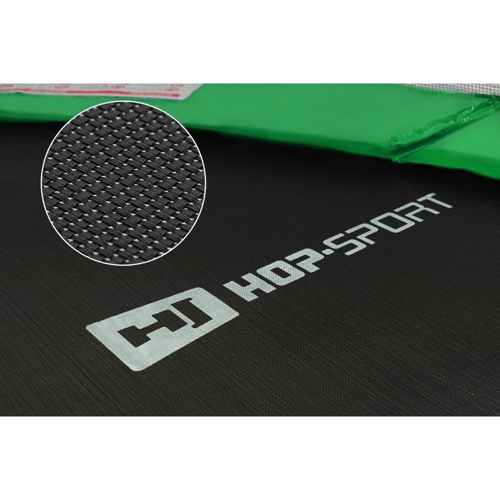 Батут Hop-Sport Green 305 см на 3 опорах с внутренней сеткой и лестницей