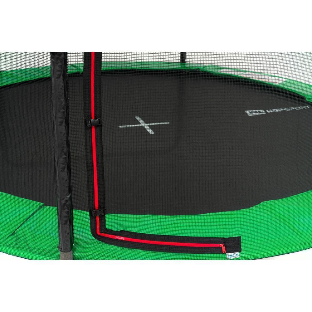 Батут Hop-Sport Green 305 см на 3 опорах с внешней сеткой и лестницей