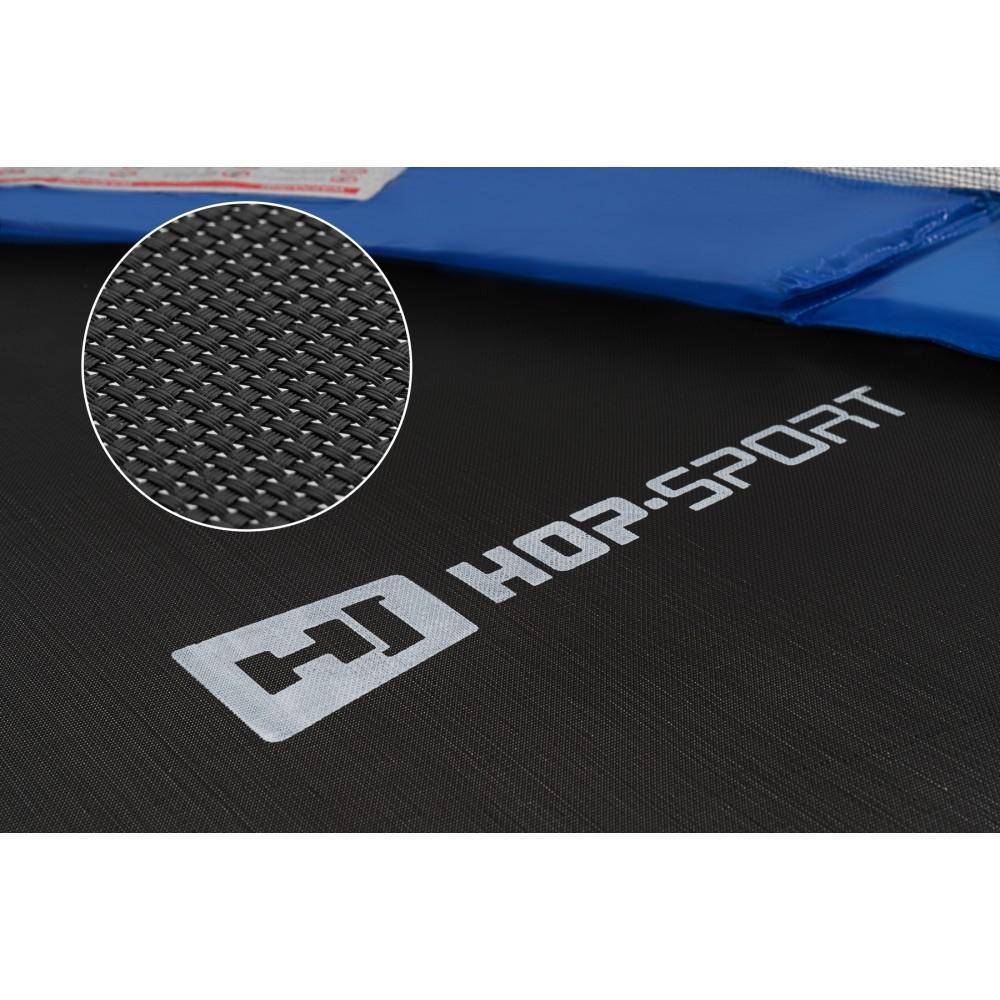 Батут Hop-Sport Blue 305 см на 3 опорах с внутренней сеткой и лестницей